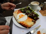 Larry had croque monsieur